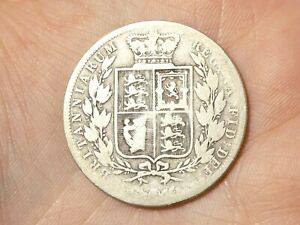 1885 Silver Victoria Half Crown Coin Well Circulated #EE5