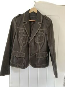 Next Brown Leather Jacket Size 14