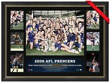 WEST COAST EAGLES 2006 AFL PREMIERS OFFICIAL PRINT FRAMED - CHRIS JUDD, COUSINS