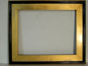 ART DECO GILDED/ BLACK  WOOD FRAME FOR PAINTING  18  X  14 INCH