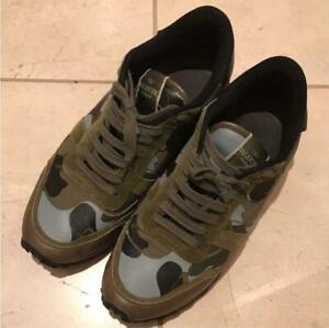 VALENTINO MENS SNEAKERS Camouflage Size 42 USED From Japan F/S