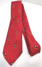 Disney Embroidered Mickey Mouse Red Wine Necktie Cervantes Made in Usa Euc