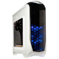 Kolink Aviator ATX Midi Tower Blue LED USB 3.0 Desktop PC Gaming Case White