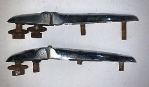Left & Right Boot Hinges off a Triumph TR3  —T2-