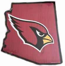 Arizona Cardinals NFL Logo State Outline Hanging Wall Art Decoration Sign