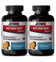 Make Hair Stronger - Anti-Gray Hair Solution 1500mg - Pantothenic Acid 1000 2B