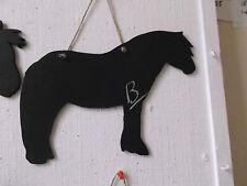 Cavallo Pony Forma B Chalk Board Segno Lavagna regalo di compleanno Dales Pony