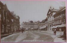 HOBBS & SON RP Postcard POSTED 1915 THE MARKET PLACE BLANDFORD DORSET