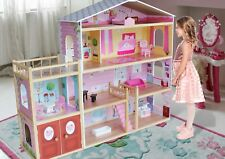 Kiddi Style Huge Modern Villa Dolls House Wooden & Furniture - Fits Barbie