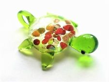 Green Turtle Glass Lampwork Foxes Pendant Charm Jewelry Supplies