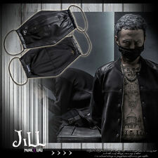 punk visual heavy rock rabies hound zippered leatherette face mask【J1G103】