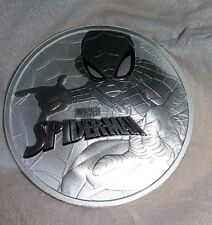 1pc--2017 1 troy ounce Tuvalu Spiderman 0.9999 silver coin