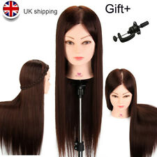 Training Head 50% Real Hair Salon Mannequin Head Styling Doll Head + Clamp