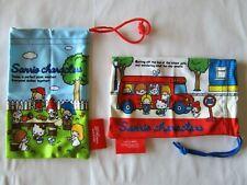 Hello Kitty My Melody Little Twins Stars Patty & Jimmy Sanrio Draw String Bag