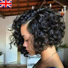 Fashion Black Short Curly Hair Lace Front Wigs Women African Glueless Full Wig