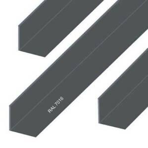 Aluminium Winkel Aluwinkel Alu Winkelprofil Anthrazit Pulverbeschichtet RAL 7016