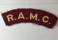 WW2 RAMC Royal Army Medical Corps Shoulder Badge Flash Patch Original