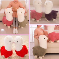 28cm Alpaca Animal Plush Soft Cuddly Toys Pillow Toy Doll Pillow Gift Pink White