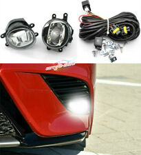 LED Fog Light Lamps DRL Daytime Ruuning Switch Button Wiring Kit Fit For Toyota