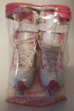 Ccm Glitter Girl Comfort Series Sp Pink White Ice Skates Sz 4