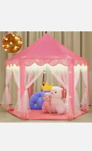Princess Castle Play Tent with LED Lights
