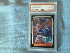Greg Maddux 1987 Donruss #36  Rookie Card - PSA 8 - MLB