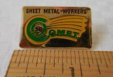 """Sheet Metal Workers Rectangular Pin - Wisconsin Local 18 - """"COMET"""""""