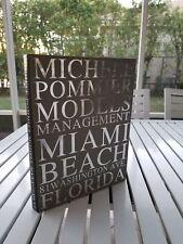 MICHELE POMMIER MODELS MANAGEMENT SIGNED