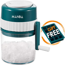 Manba Ice Shaver And Snow Cone Machine Premium Portable Ice Crusher And Shaved