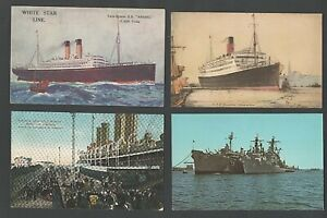 10 Unused Ship Postcards