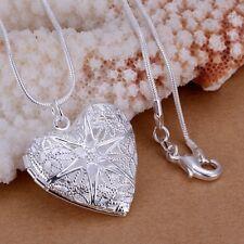 Neue Luxus Halskette Sterling silber Schmuck für Frauen Damen Anhänger Herz