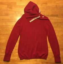 Banana Republic Women's Red Long Sleeve Cowl Neck Sweater - Size: Small