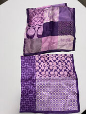 Coach Purple Scarves Scarf Silk Lot Of 2 Authentic