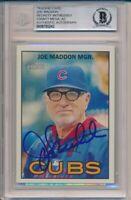 2016 Topps Heritage Joe Maddon Signed Card 263 Beckett BAS ITP Cubs World Series