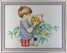 """Limited Edition Pencil Signed Kid's Art Print: """"Scary Scarecrow"""""""
