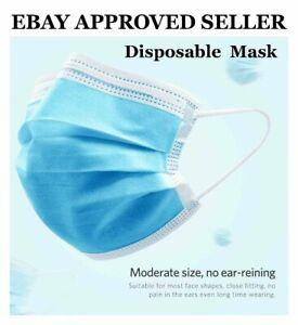 50 x Face Mask Protective Covering Mouth Mask Unisex UK