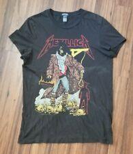 Women's Metallica Unforgiven Heavy Metal Size Small Brown T-Shirt