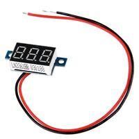 5x(Mini Digital Voltmeter LED Spannungsanzeige Panelmeter 3.3-30V Rot GY