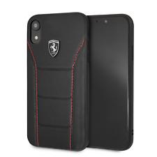 Ferrari Funda Para Teléfono IPHONE XR Estuche de Cuero 488 Negro Gota Protección