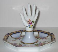 Ringhand mit Schale, Schmuckablage aus Porzellan, im Antik Stil, 12x10cm
