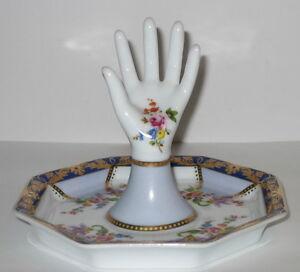 Ringhand Schmuckständer Schmuckhalter Ringhalter Ringschale Porzellan-Hand 12cm