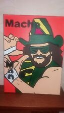 Wwe Macho Man Randy Savage TELA DIPINTO A MANO 30x40cm