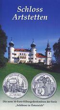 Österreich 10 Euro 2004 Silber Schloss Artstetten hgh im Blister