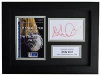 Andy Cole Signed A4 Framed Autograph Photo Display Man Utd FA Cup 1999 AFTAL COA