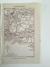 PLYMOUTH DISTRICT, Original Vintage County Map 1921, Devonshire