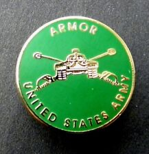 US Army Armored Armor Lapel Pin Badge 7/8 inch