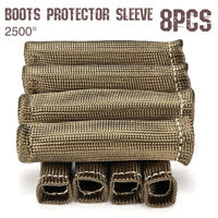 8PCS 2500° SPARK PLUG WIRE BOOTS HEAT SHIELD PROTECTOR SLEEVE For LS1/LS2/LS4/6