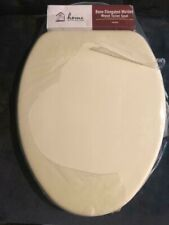 Brand New Home Impressions#445469 Bone Elongated Wood Toilet Seat & All Hardware