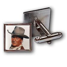 JOHN WAYNE CUFFLINKS cowboy THE DUKE Theme Cufflinks. Ideal c&w Gift. Boxed