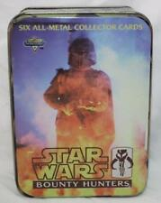 Star Wars Bounty Hunters Six All Metal Collector Cards In Tin ~SW33
